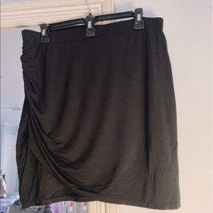 Shein Rushed black mini skirt
